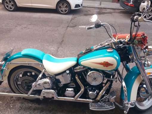 Tapizado de asiento de moto HARLEY